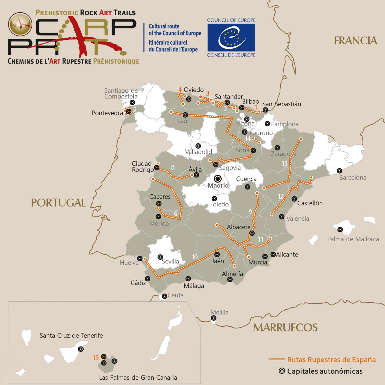 Mapa Rutas CARP / PRAT Routes Map - Pulse en la imagen para ampliar / Click to zoom