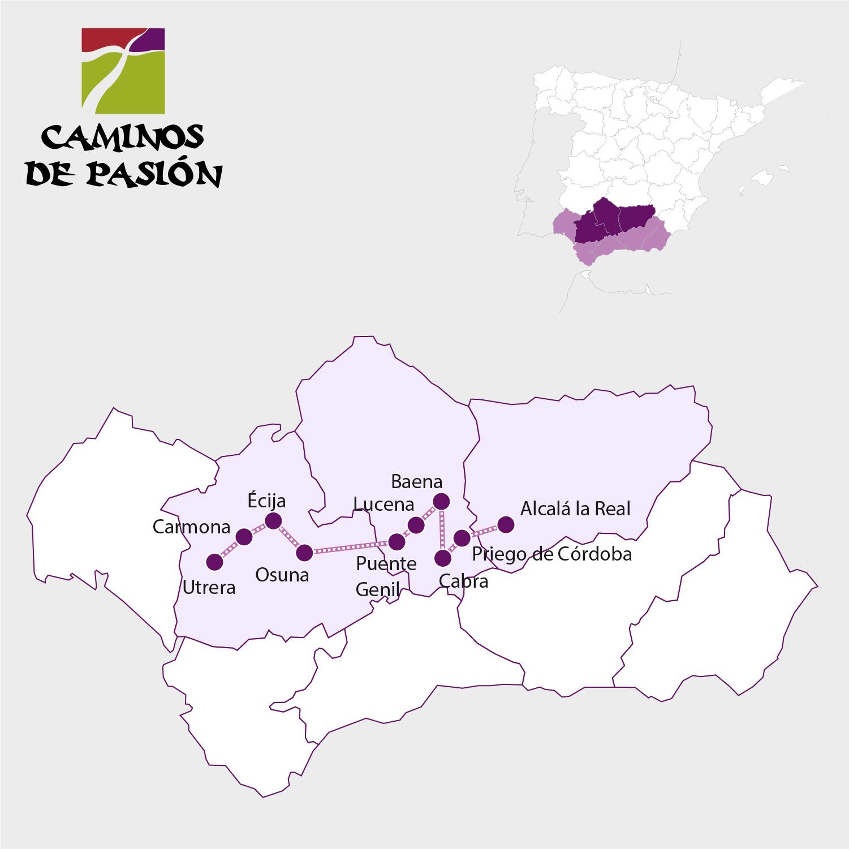 Caminos de Pasión / Ways os Passion Map - Pulse en la imagen para ampliar / Click to zoom
